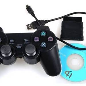 3 in 1 2.4G Wireless Duo Shock Game Controller For PS3/PS2/PC joystick joypad