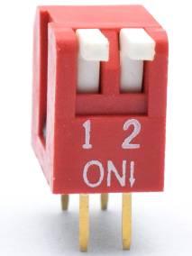 Interruttore a levetta 2 pezzi da 2,54 mm a 2 vie