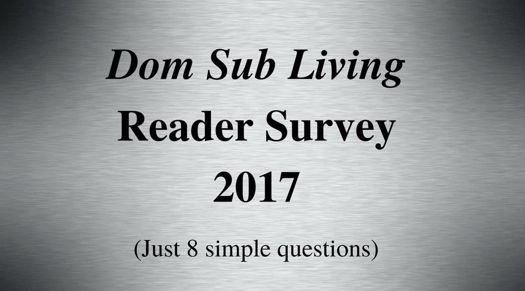 BDSM Dom Sub Living survey