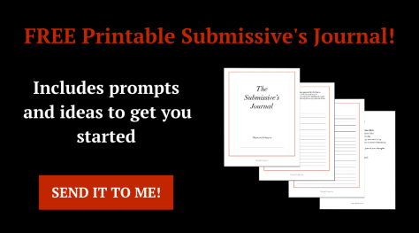 Submissive journal prompts ideas examples start template BDSM sub Dom Dominant writing