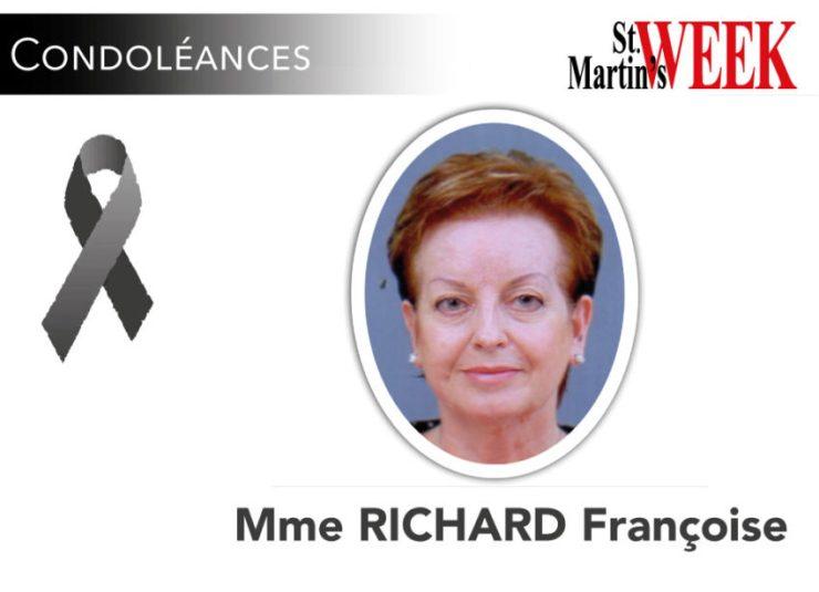 Avis de décès de Mme RICHARD Françoise
