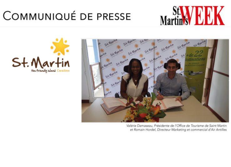 Saint-Martin et Air Antilles signent  une convention annuelle de partenariat