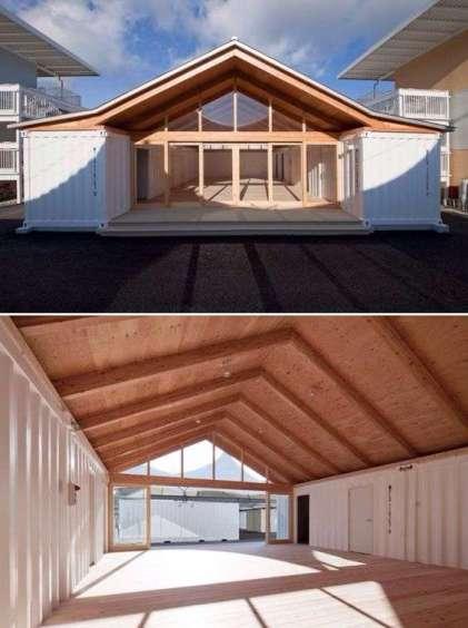 casa superba construita cu doua containere