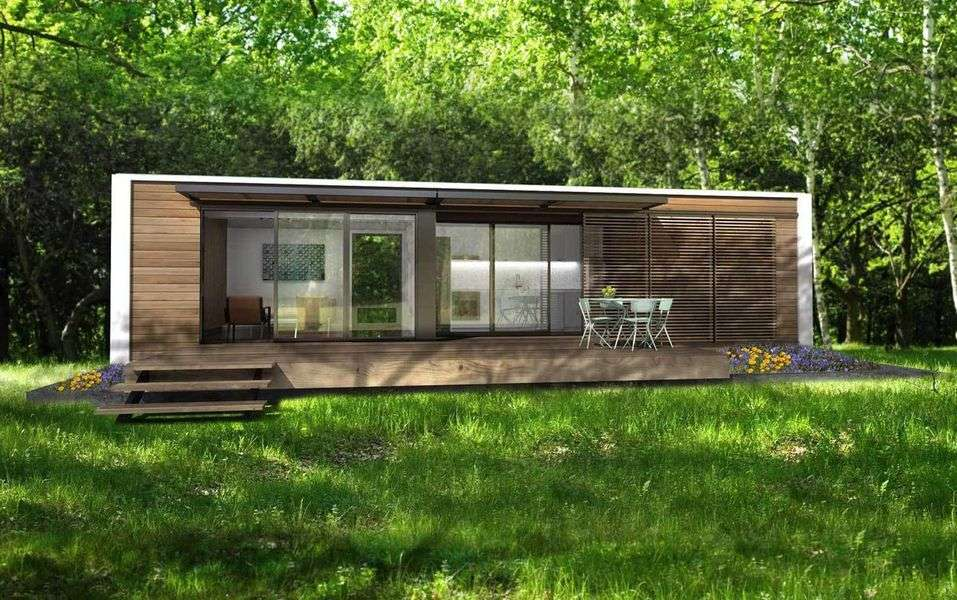 Connect Homes shipping container