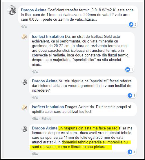 Dragos Axinte folie reflectiva comentariu