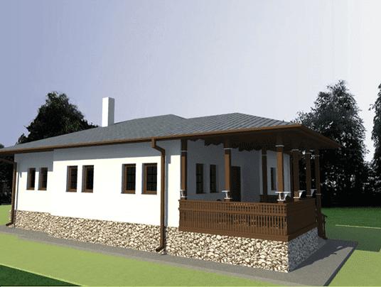 Casa in stil romanesc fatada vest