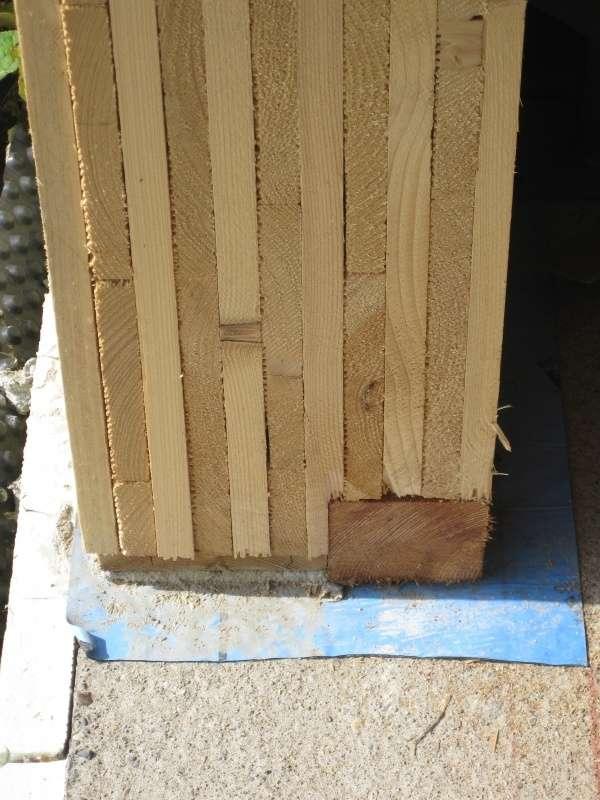 Conectarea peretelui din lemn MHM la fundatie