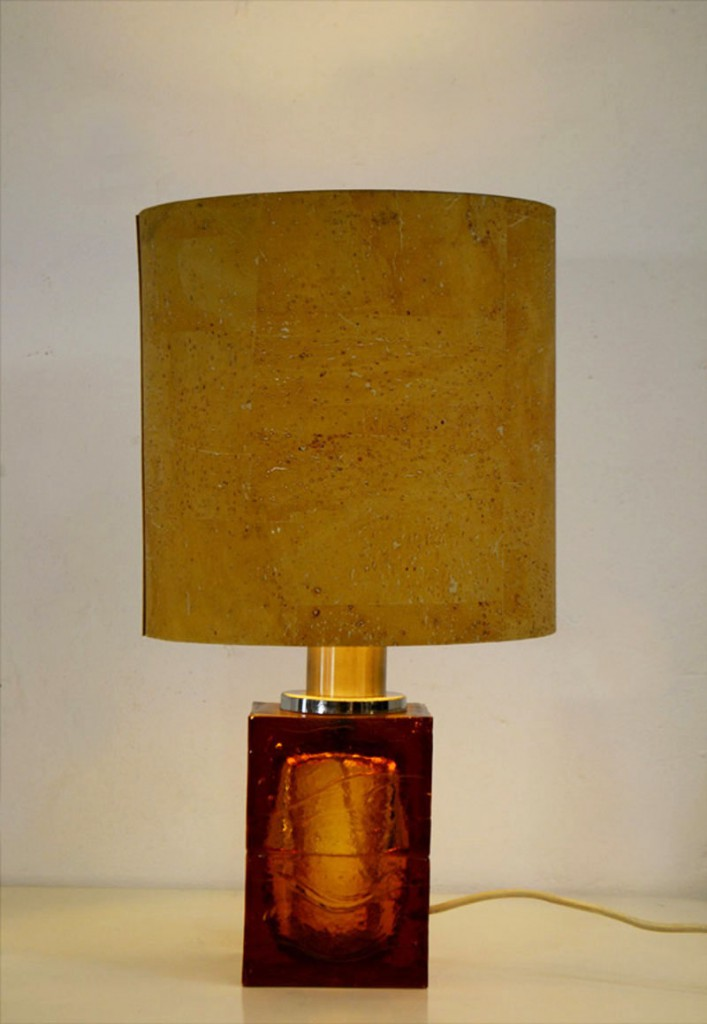 Maestri Vetrai Murano 60s Table Lamp Blown Glass Domus