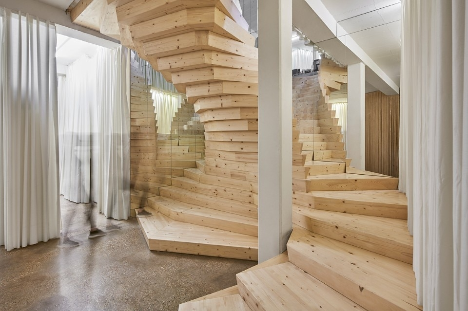 A Free Standing Cantilevered Staircase In Shoreditch Domus   Cantilever Staircase Structural Design   Steel   Structure   Metal   Exposed Brick Wall   Wood