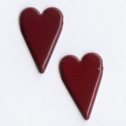 "Burgundy -- 7/16"" Country Heart -- Paper Fasteners -- 50 Pack"