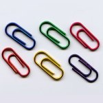 "Assorted Bright Metallic -- 5/8"" Mini Paper Clips -- 25 Pack"