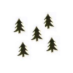 "Metallic Gold -- 11/16"" Tree -- Paper Fasteners -- 50 Pack"