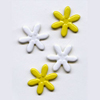 "White & Yellow -- 5/8"" Daisy -- Paper Fasteners -- 50 Pack"