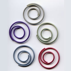 """Pearl -- 7/8"""" Spiral Paper Clips -- 25 Pack"""