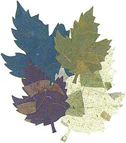 "Cut Shapes -- Maple leaves -- Aubergine 2""-3"""