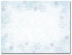 Blue Flakes -- 10 Sheets -- 40 Postcards per pack