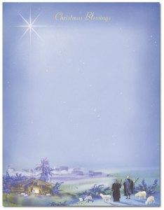 "Wonderous Lights -- Holiday Stationery -- 8 1/2"" x 11"" -- 100 Sheets"