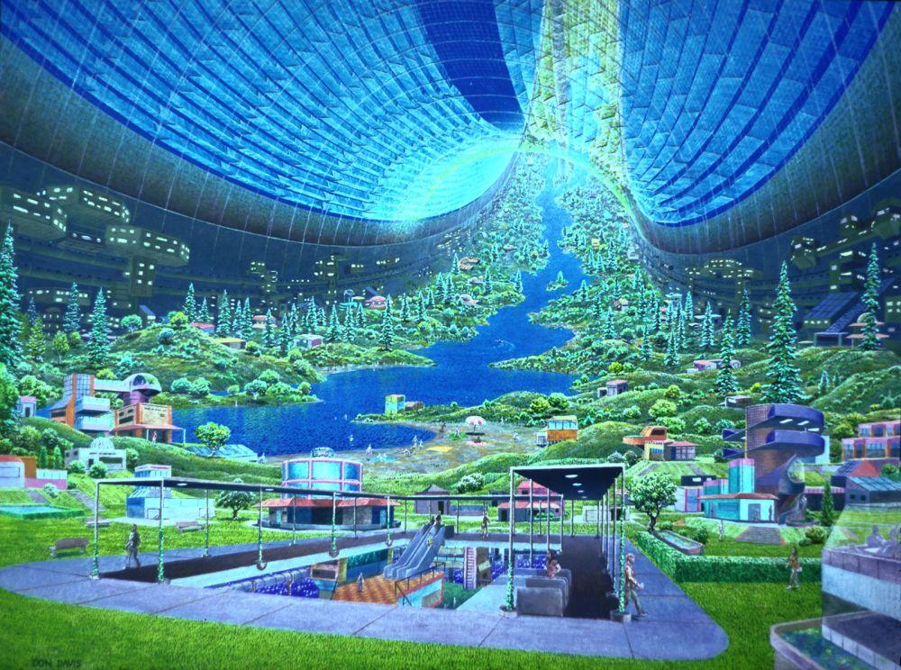 Landscape Design in Artificial Gravity