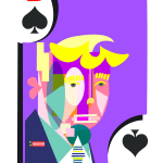 Trump playing card of Spades