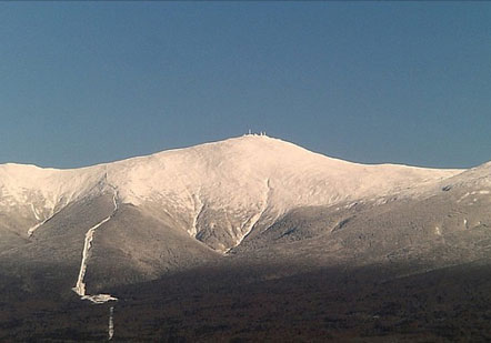 View of Presidential range in Northern New Hamphsire from Bretton Woods resort
