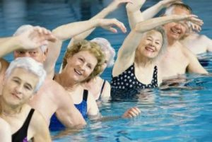 Water exercise may be part of a home-based pulmonary rehabilitation program