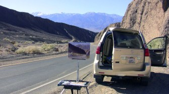 My setup along Artists Drive