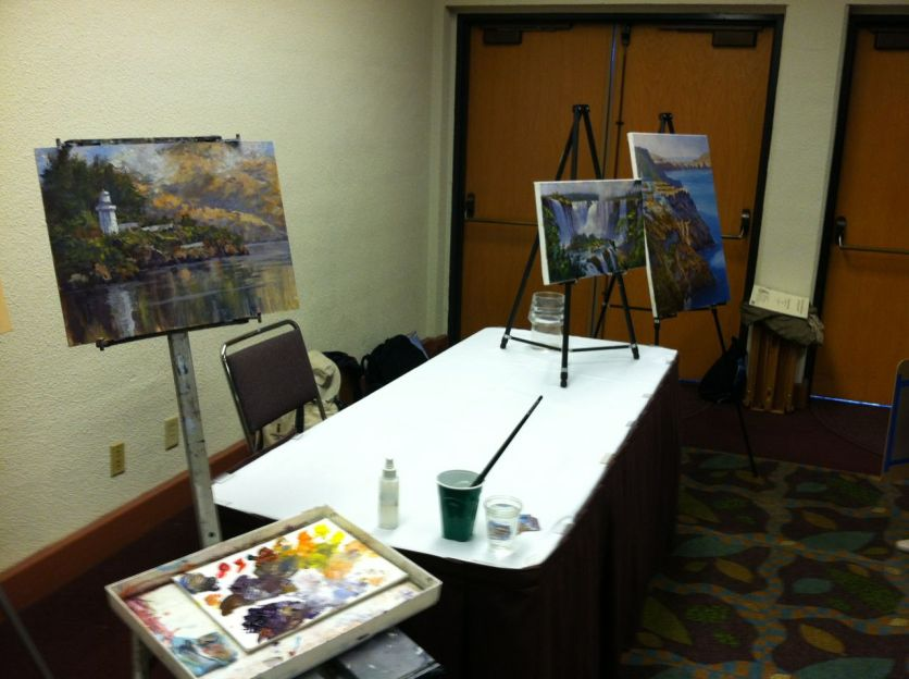 I finished the demo painting in the vendor hall.