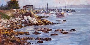 Monterey Wharf 12x24 Oil