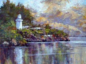 Akaroa Lighthouse 12x16 Acrylic