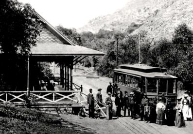 The Trolley Station in Alum Rock Park. The trolley used to run from downtown San Jose into the park.