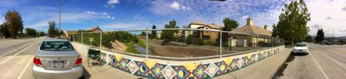 A 180 degree panorama of my painting spot along San Antonio Street