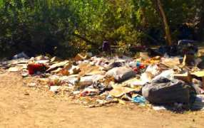 Trash is everywhere.