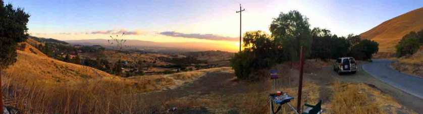 A panorama of my painting location.