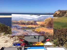 I painted over an old painting. Many artists do this, even masters like Monet and others