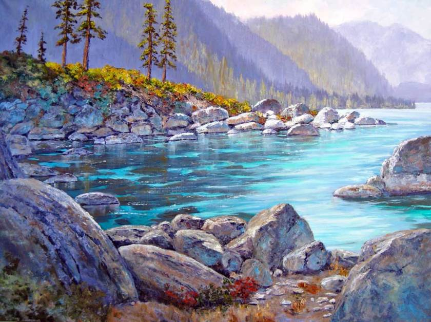 """Tahoe Inlet"", 24x30, oil on canvas"