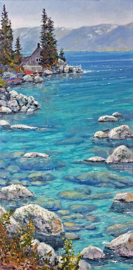 """""""Thunderbird Lodge"""", 24x12, oil on gallery wrap canvas"""