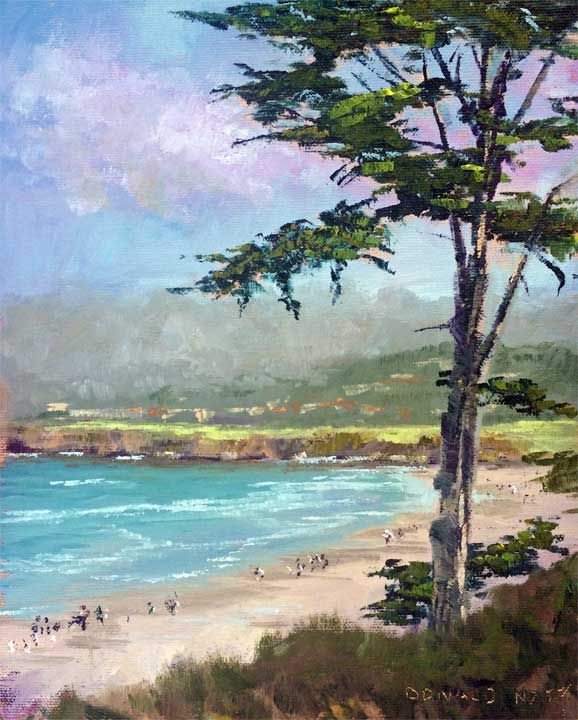 Carmel Beach, 10x8, oil on panel