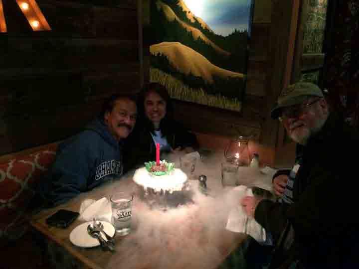 Birthday dinner for Gene