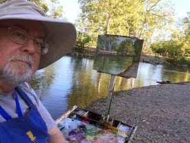 Selfie along Los Gatos Creek in Vasona park