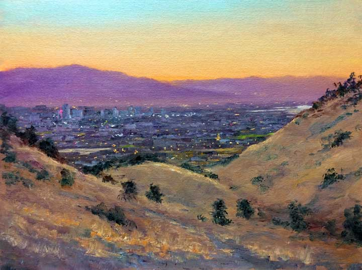 Silicon Valley View, 12x16, oil on panel