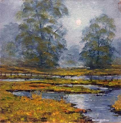 Misty Elkhorne, 6x6, oil on panel