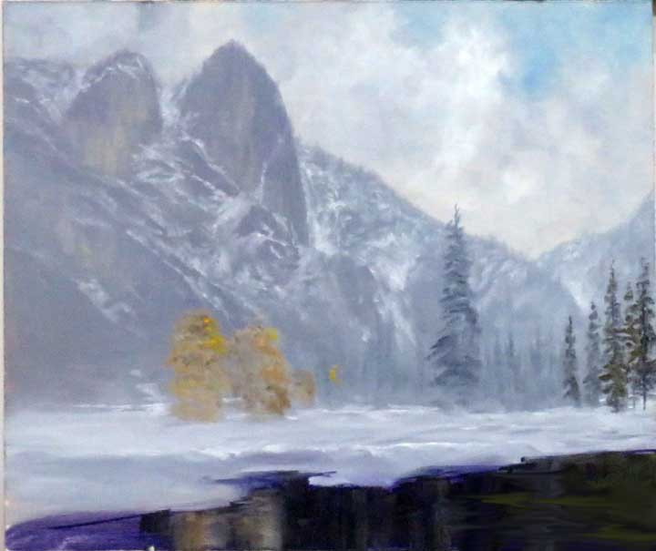 Original painting near end of the demo (courtesy John Barrow)