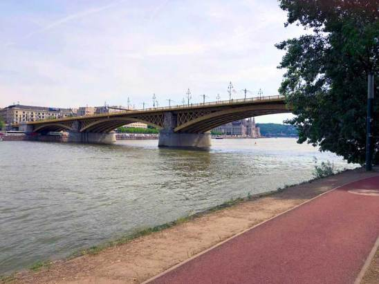 Margaret Bridge across the Danube