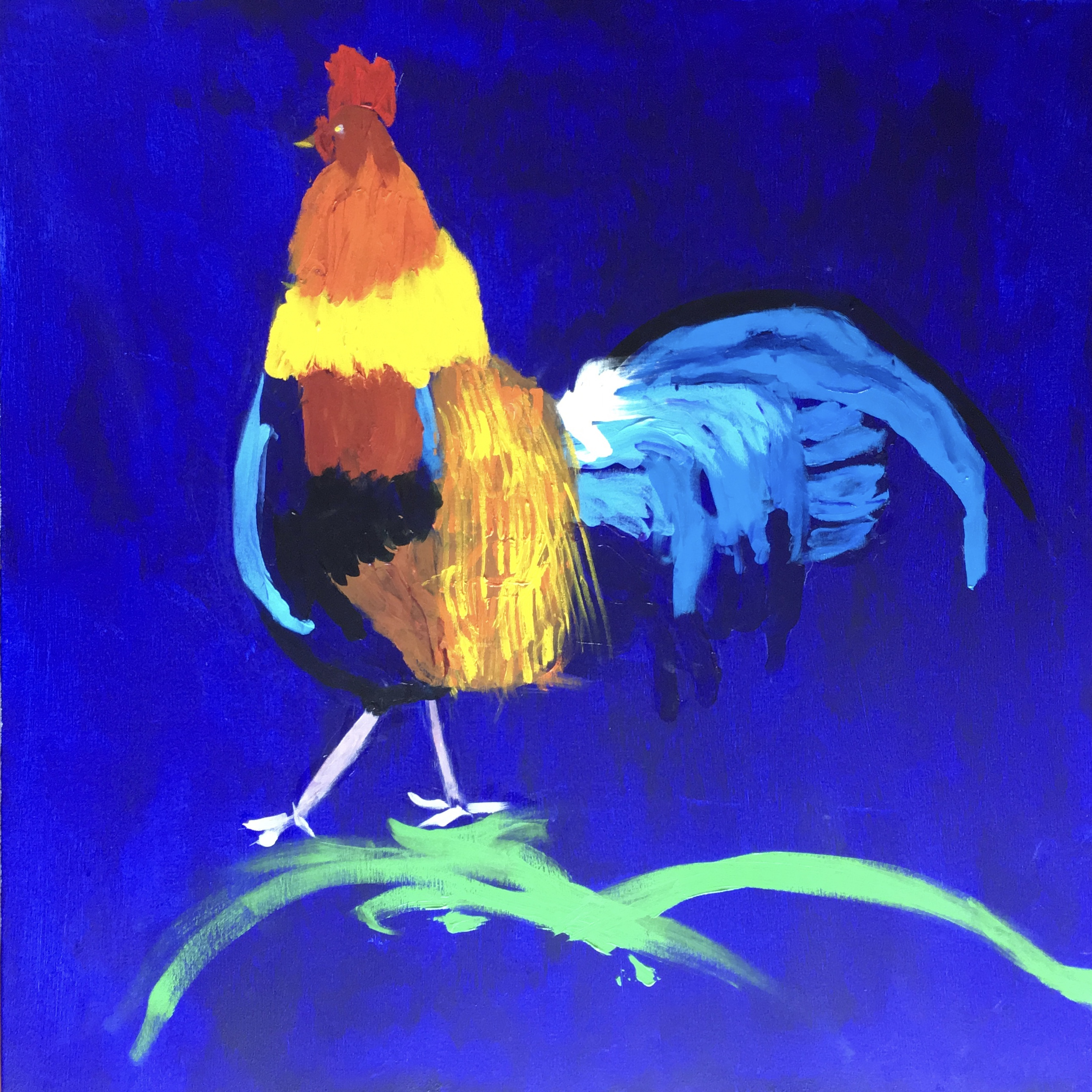 Rooster - Original For Sale - Prints Available