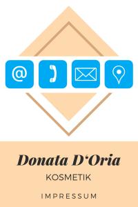 Donata D'Oria Kosmetik Impressum