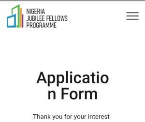 Nigeria-Jubilee-Fellows-Programme
