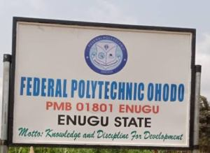 federal poly ohodo post utme