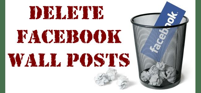 delete facebook wall posts