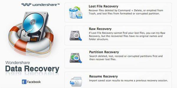 wondershare mac data recovery