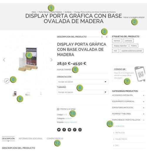 Ayuda página de producto